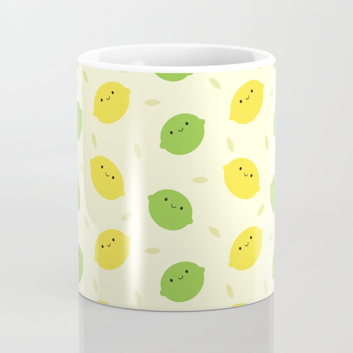 Kawaii Lemons & Limes Coffee Mug