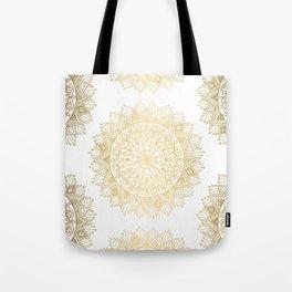 Hand Drawn Gold Mandala Tote Bag