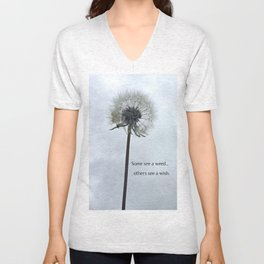 Some See A Wish Dandelion Unisex V-Neck