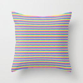 Rainbow Stripe Pattern Throw Pillow