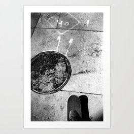 Sidewalk Symphony (City Ride) Art Print