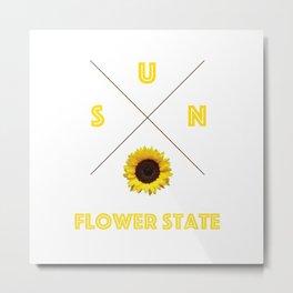 Sunflower State Metal Print