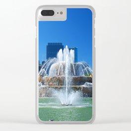 Buckingham fountain Clear iPhone Case