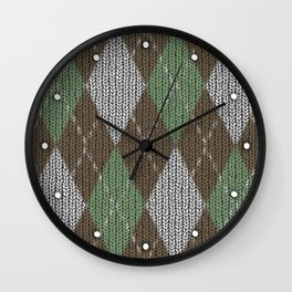 Pink Roses in Anzures 5  Argyle 1 Wall Clock