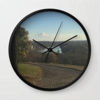 virginia Wall Clocks featuring virginia by Luzvanni