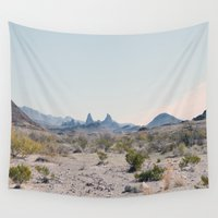 texas Wall Tapestries featuring Texas desert by Zak Patterson