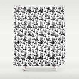 Flock of Starlings / Murmuration Shower Curtain