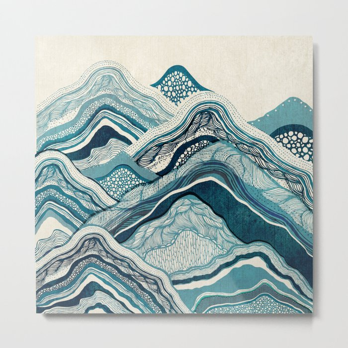 Blue Hike  Metal Print