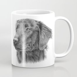 Flatcoated retriever bw Coffee Mug