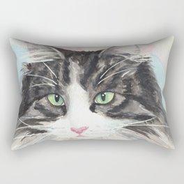 Watercolor Cat 13 My Master Rectangular Pillow