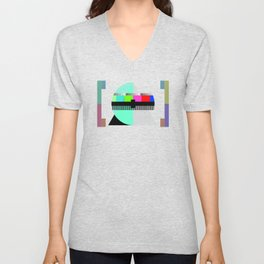 Waiting for the Show to Begin (Test Pattern 1) Unisex V-Neck