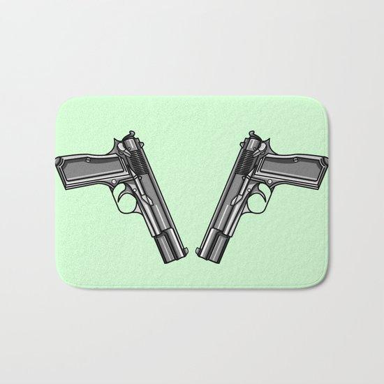 Hip Tattoo Pistols Bath Mat