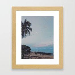 moon rise over kauai Framed Art Print