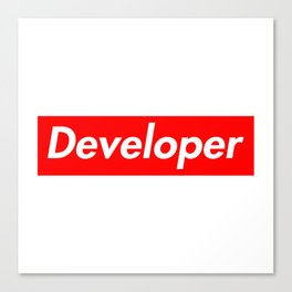 Developer - Programmer supreme Canvas Print