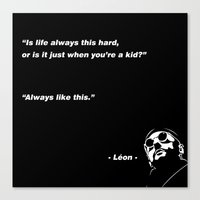 leon Canvas Prints featuring Leon by picsaying