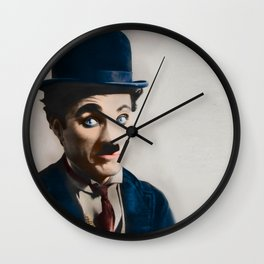 Modern Charlie Chaplin Wall Clock