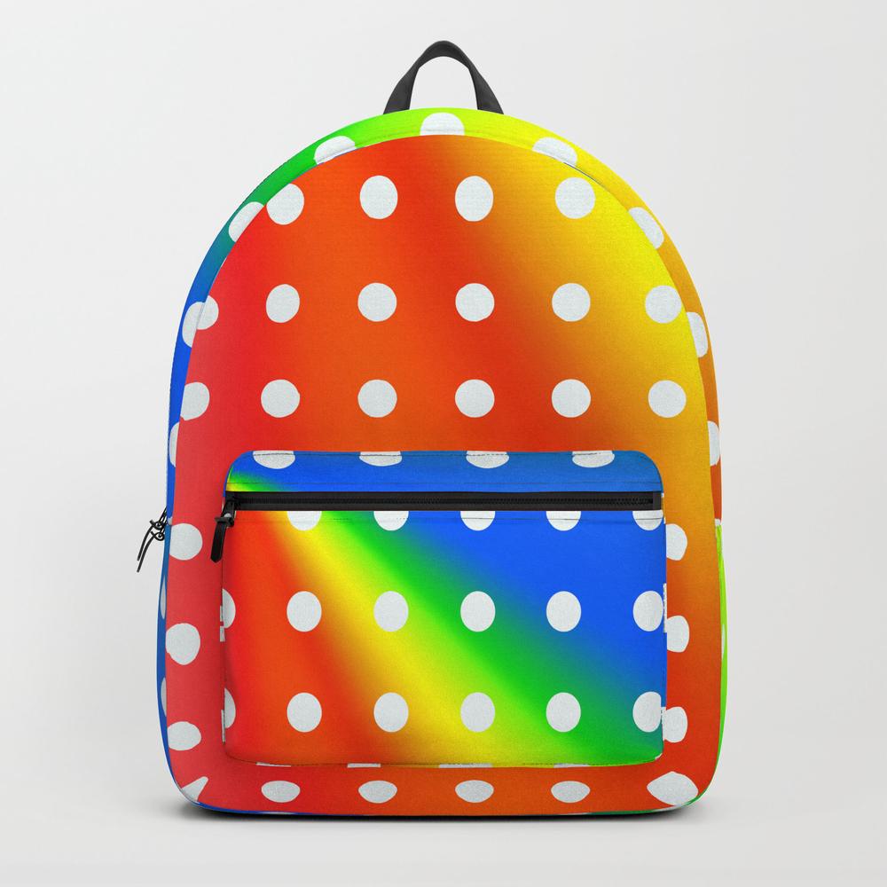 Vibrant Polka Dot Design Backpack by Acoetzer BKP8261356