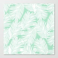 Canvas Prints featuring Areca Palm minimal tropical house plants minimalism art print zen chill decor by CharlotteWinter
