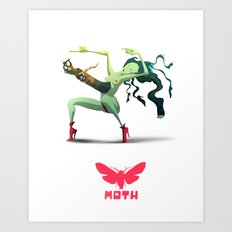Moth Nv Art Print