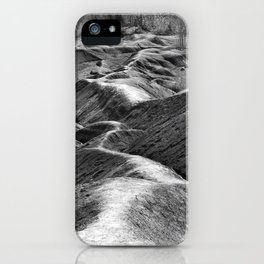 Red Soil (Black & White) iPhone Case