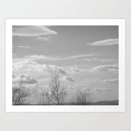 Waving bye to the rolling clouds Art Print