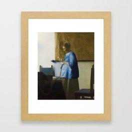 Woman Reading a Letter Framed Art Print