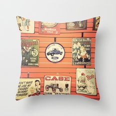 Vintage Signs Throw Pillow