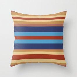 Retro 70s Vintage Surfer - Blue Sand Throw Pillow