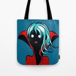 Funny Vampire Girl Character Tote Bag