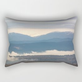 Snow covered italian Apennine Mountains Rectangular Pillow