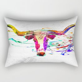 Longhorn Grunge Rectangular Pillow