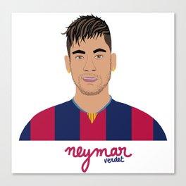 NEYMAR - FC BARCELONE Canvas Print