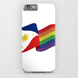 Philippine Rainbow Pride Flag Unofficial iPhone Case