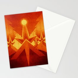 Mars - Cryptic Geysers Stationery Cards
