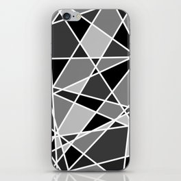 Shattered Charcoal iPhone Skin