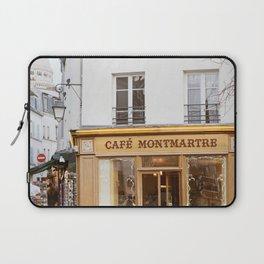 Cafe Montmartre - Paris Travel Photography Laptop Sleeve