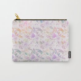 Modern lavender lilac pink watercolor floral Carry-All Pouch