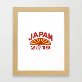 Japan 2019 Icon Framed Art Print