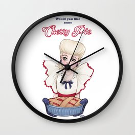 Would you like some Cherry Pie? Wall Clock