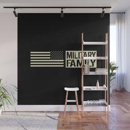 U.S. Military: Military Family (Black Flag) Wall Mural