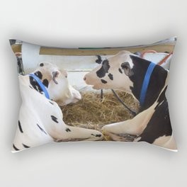 Pair Of Black And White Cows 2 Rectangular Pillow