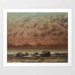 Gustave Courbet The Black Rocks at Trouville 18651866 Painting Art Print