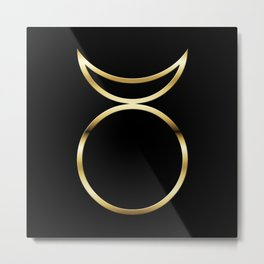 Horned God Symbol Metal Print