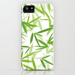 Bamboo Leaves iPhone Case