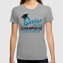 Senior 2020 Quarantine Gift Senior Skip Day Champions Class of 2020 Graduation  T-shirt