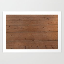 Pattern of honey-colored light wooden boards Art Print