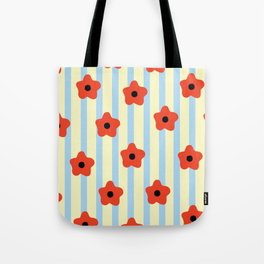 Poppies & Stripes Tote Bag