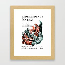 July 4, 1776 - Lend A Dime For War Savings Stamps Framed Art Print