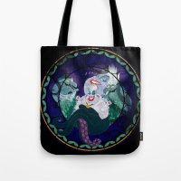 ursula Tote Bags featuring Ursula by Mazuki Arts