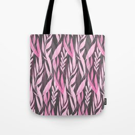 Watercolor Spring Leaves V Tote Bag